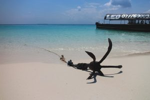 Anchor in sand...